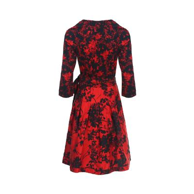flower pattern wrap dress multi